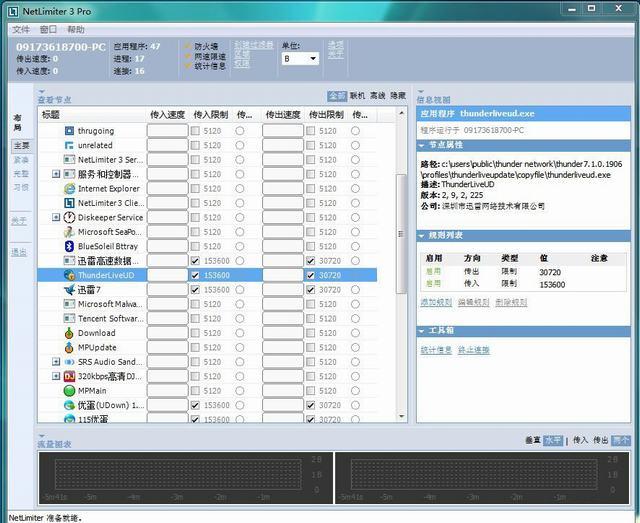 电脑网络流量控制软件NetLimiter V3.0.0.9专业破解版